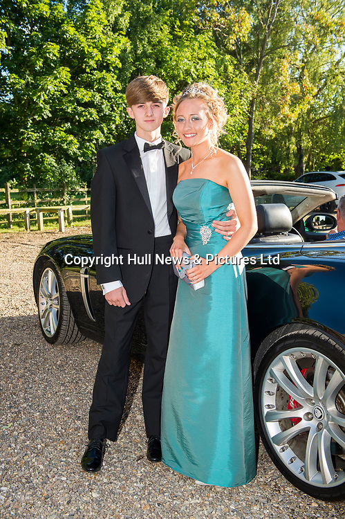 27 June 2019: Somercotes Academy Year 11 prom at the Brackenborough Hotel near Louth.<br /> Ethan Champion and Kiaya Hackett.<br /> Picture: Sean Spencer/Hull News & Pictures Ltd<br /> 01482 210267/07976 433960<br /> www.hullnews.co.uk         sean@hullnews.co.uk
