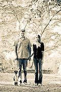 Laura & Dan Duffy and their dog, Blake, a smooth fox terrier during a canine portrait session