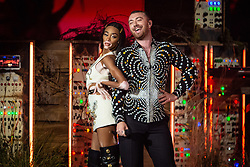 Winnie Harlow and Sam Smith on stage at the Brit Awards 2019 at the O2 Arena, London. Photo credit should read: Matt Crossick/EMPICS Entertainment. EDITORIAL USE ONLY