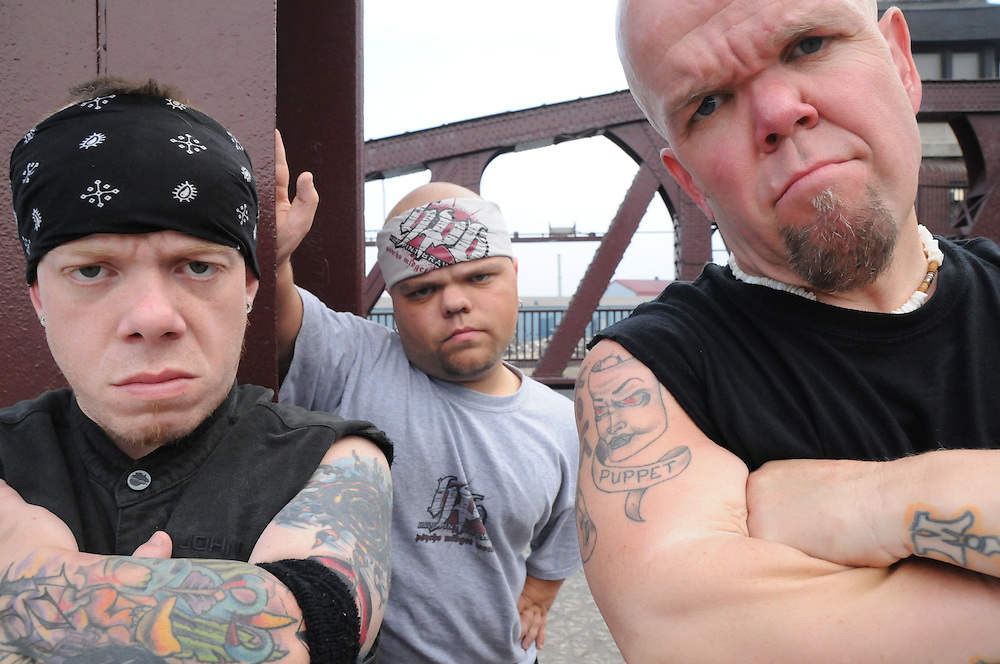"""The new reality show """"Half Pint Brawlers"""" features the exploits of entertainment wresters Puppet """"The Psycho Dwarf"""" (Steve Richardson), Turtle (Jacob Colyer) and Teo (Tony Elliott). The show is set to premiere June 2nd on Spike TV."""
