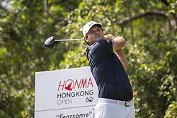 November 23, 2018 - Hong Kong, China - USA Golfer PATRICK REED tees off during round two of the 2018 Honma Hong Kong Open in Hong Kong, China.  (Credit Image: © Harry Wai/NurPhoto via ZUMA Press)