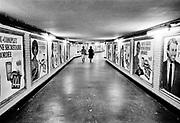Frankrijk, Parijs, 25-4-1978  In de gang naar de metro .Foto: ANP/ Hollandse Hoogte/ Flip Franssen