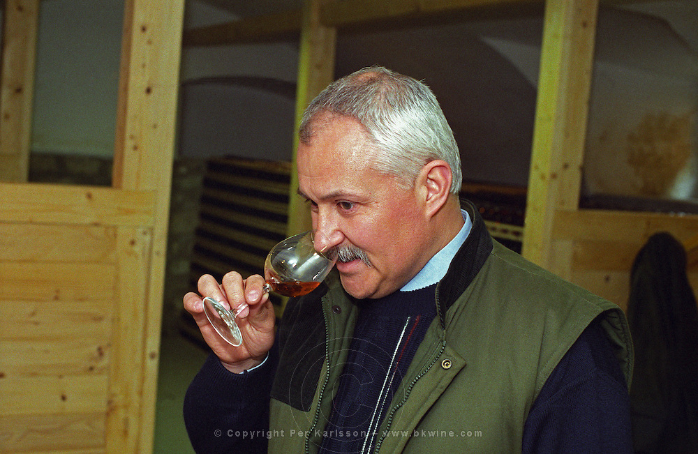 """The Royal Tokaji Wine company in Mad: Mr. István Turoczi, the director of the Royal Tokaji Wine Company. Istvan. The RTWC in was one of the first Tokaj wineries to be """"revived"""" by an injection of foreign capital. It makes wine in a traditional style. Credit Per Karlsson BKWine.com."""