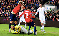 Fotball , 12. november 2014 ,<br /> Play-off , Norge - Ungarn<br /> EURO 2016 - Qualification: play-off<br /> Norway - Hungary 0-1<br /> Gabor Kiraly , Ungarn<br /> Marcus Pedersen , Norge