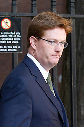 "© Licensed to London News Pictures. 29/08/2013. London, UK. Treasury Secretary Danny Alexander arrives for a meeting of the British cabinet on Downing Street in London today (29/08/2013) as a recalled British Parliament prepares to debate the possibility of ""direct"" military action over recent reports an alleged chemical weapons attack in Syria. Photo credit: Matt Cetti-Roberts/LNP"