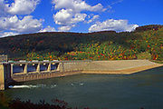 Allegheny Reservoir dam, Allegheny National Forest, NW Pennsylvania