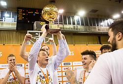 Gasper Okorn, head coach of KK Union Olimpija celebrates after wining during basketball match between KK Union Olimpija and KK Rogaska in 4th Final game of Liga Nova KBM za prvaka 2016/17, on May 24, 2017 in Hala Tivoli, Ljubljana, Slovenia. Photo by Vid Ponikvar / Sportida