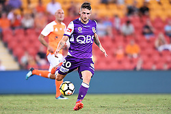 January 18, 2018 - Brisbane, QUEENSLAND, AUSTRALIA - Jake Brimmer of the Glory (#20) passes the ball during the round seventeen Hyundai A-League match between the Brisbane Roar and the Perth Glory at Suncorp Stadium on January 18, 2018 in Brisbane, Australia. (Credit Image: © Albert Perez via ZUMA Wire)