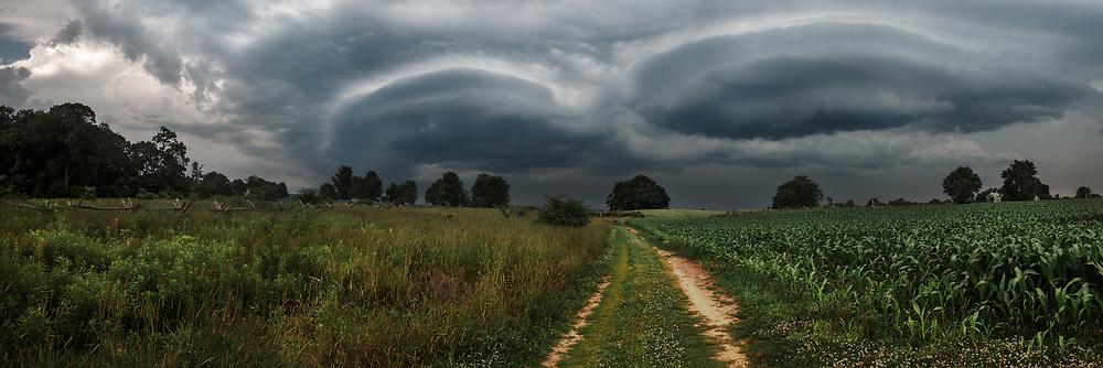 Storm clouds over Antietam National Battlefield. Sharpsburg, Maryland.