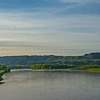 The Missouri River flows through the Upper Missouri River Breaks National Monument, Montana.