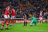 Max Power of Sunderland (27) reacts to shooting wide during the EFL Sky Bet League 1 match between Barnsley and Sunderland at Oakwell, Barnsley, England on 12 March 2019.
