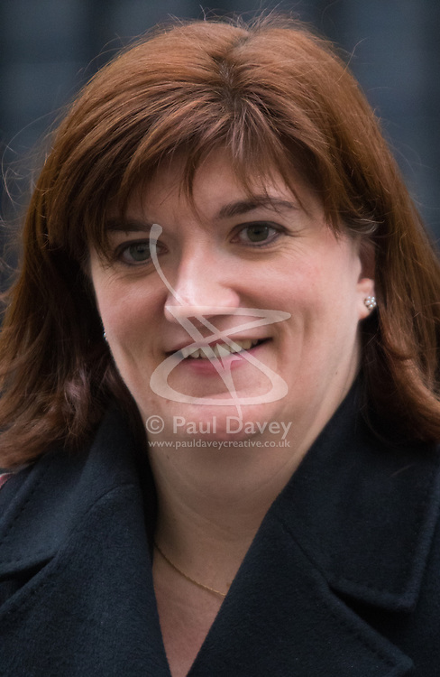 London, February 10th 2015. Ministers arrive at the weekly cabinet meeting at 10 Downing Street. PICTURED: Education Secretary Nicky Morgan