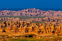 View from Pinnacles Overlook, Badlands National Park, South Dakota USA