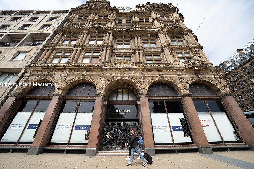 Edinburgh, Scotland, UK. 17 June, 2020. Views from Edinburgh city centre before expected relaxation of covid-19 lockdown by Scottish Government. Pictured; Exterior of Jenners department store on Princes Street. The store remains closed. Iain Masterton/Alamy Live News