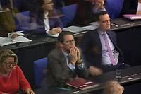 DEU, Deutschland, Germany, Berlin, 27.11.2019: Bundesverkehrsminister Andreas Scheuer (CSU) auf der Regierungsbank während einer Plenarsitzung im Deutschen Bundestag.