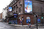 Supportive sign to the NHS outside the closed Prince Edward Theatre in Soho which is showing Mary Poppins in the West End as the national coronavirus lockdown three continues and theatres have to remain shut on 28th January 2021 in London, United Kingdom. Following the surge in cases over the Winter including a new UK variant of Covid-19, this nationwide lockdown advises all citizens to follow the message to stay at home, protect the NHS and save lives.