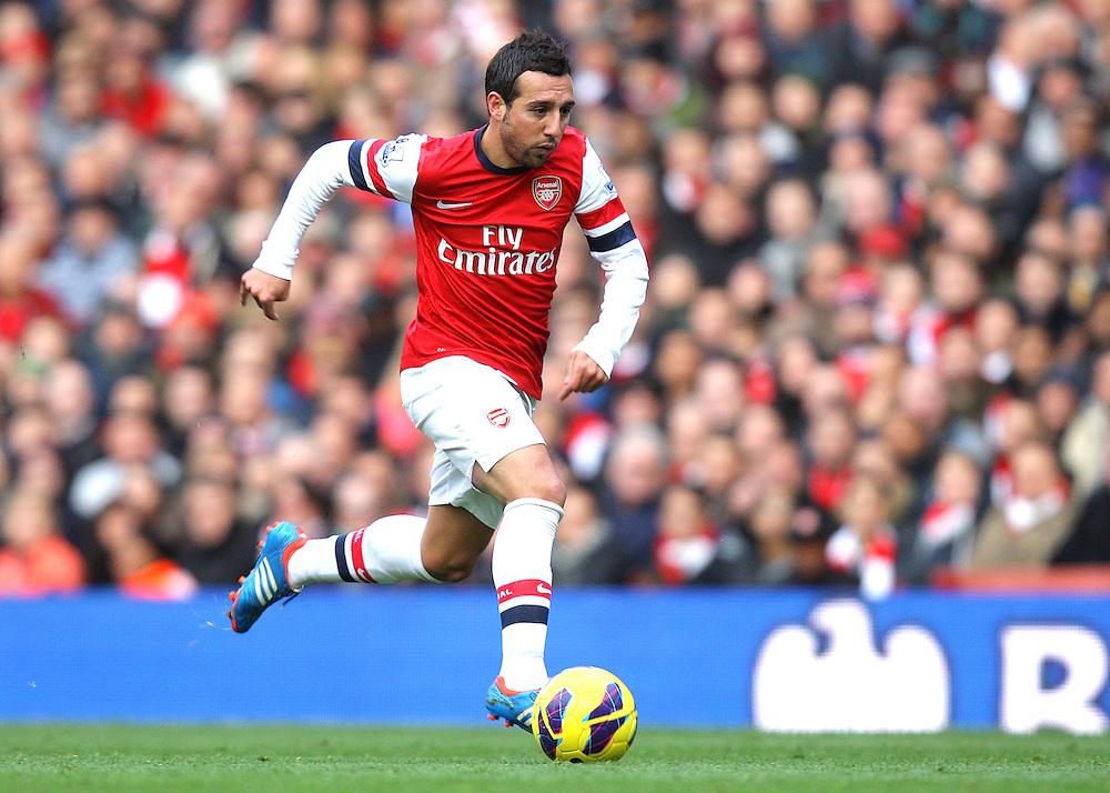 Arsenal's Santi Cazorla ..Football - Barclays Premiership - Arsenal v Queens Park Rangers - Sturday 27th October 2012 - Emirates Stadium - London..