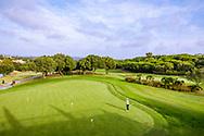 22-10-2018 Almenara Golf Club in Sotogrande, Cádiz, ontworpen door Dave Thomas.<br /> ALMENARA: Putting green naast het clubhuis en bij afslag hole1 Los Pinos