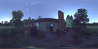 Summertime Night Sky over New Jersey (360 Equirectangular Panorama). Composite of images (23:00-23:59) taken with a Ricoh Theta Z1 camera (ISO 400, dual 2.6 mm fisheye lens, f/2.1, 60 sec).