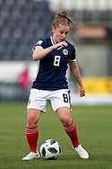 Kim Little (#8) of Scotland on the ball during the FIFA Women's World Cup UEFA Qualifier match between Scotland Women and Belarus Women at Falkirk Stadium, Falkirk, Scotland on 7 June 2018. Picture by Craig Doyle.