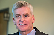 Republican Senator Bill Cassidy after his town hall meeting in Metairie Louisiana where he faced angry constituents on Feb. 22, 2017.