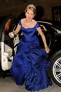 Gala dinner on the occasion of the civil wedding of Grand Duke Guillaume and Princess Stephanie at the Grand-Ducal palace in Luxembourg <br /> <br /> On the photo: Princess Mathilde