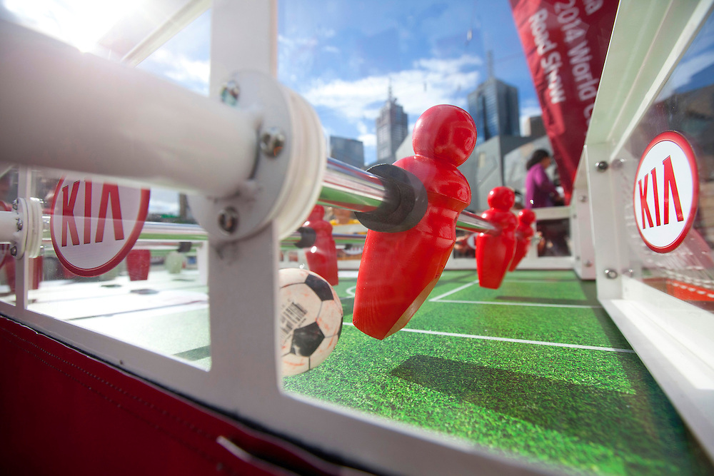 KIA brings fusbol to Fed Square to promote the World Cup