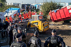 London: Demolition Begins at the Calais Jungle, 25 Oct. 2016