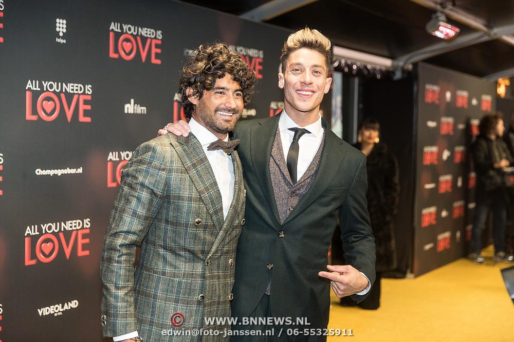 NLD/Amsterdam/20181126 - premiere All You Need Is Love, Bram Blankestijn en .........