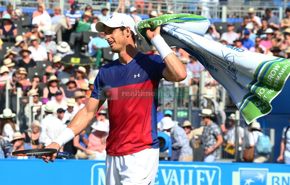June 20, 2017 - London, United Kingdom - Andy Murray GBR against Jordan Thompson (AUS) during Round One match on the second day of the ATP Aegon Championships at the Queen's Club in west London on June 20, 2017  (Credit Image: © Kieran Galvin/NurPhoto via ZUMA Press)