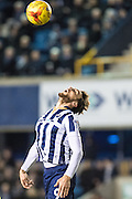 Millwall forward Lee Gregory (9) during the EFL Sky Bet League 1 match between Millwall and Peterborough United at The Den, London, England on 28 February 2017. Photo by Sebastian Frej.