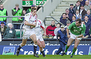 Twickenham. Surrey, UK., 16th February 2002, Six Nations International Rugby,  RFU Stadium, England vs Ireland,  [Mandatory Credit: Peter Spurrier/Intersport Images],<br /> <br /> The Lloyds TSB Six Nations Championship<br /> England v Ireland<br /> RFU - Twickenham<br /> 16/02/2002<br /> Will Greenwood, scores his first half try.<br /> <br /> <br /> <br />  <br /> <br /> <br /> <br /> <br /> <br /> <br /> <br /> <br /> <br /> <br /> Salesi Finau