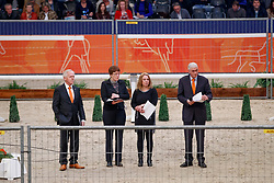 Van Woudenbergh Reijer, NED, Hamoen Arie, NED, Van Der Velden Marloes, NED<br /> KWPN Stallionshow - 's Hertogenbosch 2018<br /> © Hippo Foto - Dirk Caremans<br /> 02/02/2018