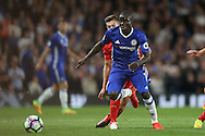 Ngolo Kante of Chelsea in action. Premier league match, Chelsea v Liverpool at Stamford Bridge in London on Friday 16th September 2016.<br /> pic by John Patrick Fletcher, Andrew Orchard sports photography.