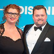 NLD/Amsterdam//20140331 - Uitreiking Edison Pop 2014, Frans Duijts en partner Marloes Overgaauw