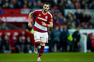 Middlesbrough forward, on loan from Valencia, Alvaro Negredo (10)  during the The FA Cup match between Middlesbrough and Sheffield Wednesday at the Riverside Stadium, Middlesbrough, England on 8 January 2017. Photo by Simon Davies.
