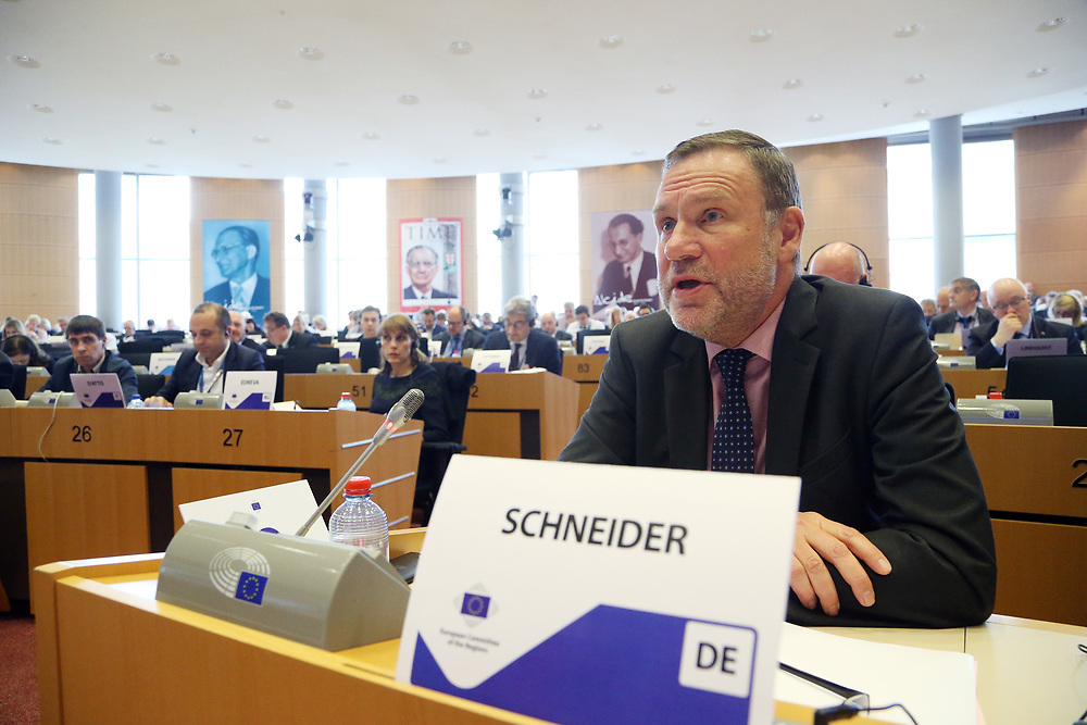 12 May 2017, 123rd Plenary Session of the European Committee of the Regions <br /> Belgium - Brussels - May 2017 <br /> <br /> Mr SCHNEIDER Michael, State Secretary, Representative of the Land of Saxony-Anhalt to the Federal Government, Germany<br /> <br /> © European Union / Patrick Mascart