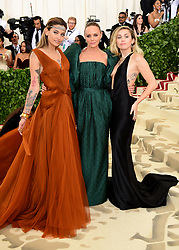 Paris Jackson, Stella McCartney and Miley Cyrus attending the Metropolitan Museum of Art Costume Institute Benefit Gala 2018 in New York, USA. PRESS ASSOCIATION Photo. Picture date: Picture date: Monday May 7, 2018. See PA story SHOWBIZ MET Gala. Photo credit should read: Ian West/PA Wire