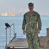 """Cmdr. Brian Whitaker, from Gallup, is currently serving in Djibouti, Africa participating in the multinational maritime exercise Cutlass Express 2019.2. Whitaker is a 1988 Gallup High School graduate who serves as a judge advocate. Cutlass Express is one of three African regional express series exercises sponsored by U.S. Africa Command and facilitated by U.S. Naval Forces Europe-Africa/U.S. 6th Fleet. Additionally, Whitaker said he has participated in Cutlass Express exercises in Mozambique and Djibouti, worked with justice officials in Iraq and taught legal ethics to military attorneys and judges in Afghanistan. """"The U.S. Navy JAG Corps has a truly global reach and I'm proud to have been a part of the impact we've been able to make worldwide,"""" added Whitaker."""