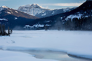 Morning mist over the Lamar River, Yellowstone National Park