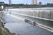 One-hundred-meter-long Artificial Waterfall
