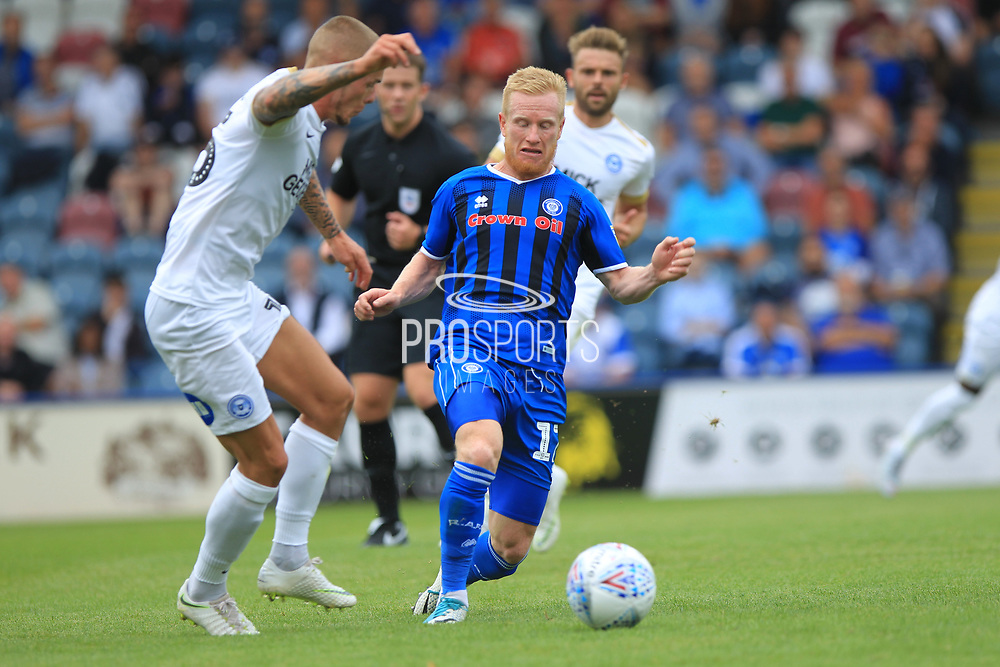 David Perkins during the EFL Sky Bet League 1 match between Rochdale and Peterborough United at Spotland, Rochdale, England on 11 August 2018.