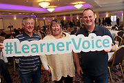 Attending The National FET Learner Forum Regional Meeting in the Abbey Hotel, Roscommon on Wednesday were Dick Mugan with  Debbie and David Livermore of Ballintubber Active Age.Photo:- XPOSURE.IE