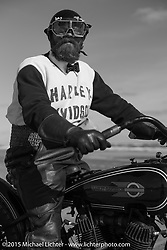 Andrew Wood on his 1929Harley-Davidson / JD Racer at the Race of Gentlemen. Wildwood, NJ, USA. October 10, 2015.  Photography ©2015 Michael Lichter.