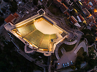 Aerial view of St Michael's fortress, Sibenik, Croatia.