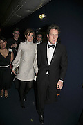 Jemima Khan and Hugh Grant, British Red Cross Ball, Waterloo. London. 16 November 2006.  TIME USE ONLY - DO NOT ARCHIVE  © Copyright Photograph by Dafydd Jones 66 Stockwell Park Rd. London SW9 0DA Tel 020 7733 0108 www.dafjones.com