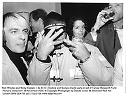 Nick Rhodes and Nicky Haslam. ( As Ali G ) Doctors and Nurses charity party in aid of Cancer Research Fund. Floriana restaurant. 29 November 2000. © Copyright Photograph by Dafydd Jones 66 Stockwell Park Rd. London SW9 0DA Tel 020 7733 0108 www.dafjones.com