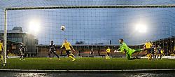 Falkirk's Blair Alston's gaol.<br /> Livingston 0 v 1 Falkirk, Scottish Championship played13/12/2014 at The Energy Assets Arena.