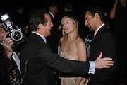 President of Moet, Frederic Cuminar with Kim Cattrall. The Moet & Chandon Fashion Tribute 2005 to Matthew Williamson,  Old Billingsgate market, London. 16th February 2005. ONE TIME USE ONLY - DO NOT ARCHIVE  © Copyright Photograph by Dafydd Jones 66 Stockwell Park Rd. London SW9 0DA Tel 020 7733 0108 www.dafjones.com