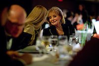 Presenter Barbara Walters prior to dinner at the 37th International Emmy Awards Gala in New York on Monday, November 23, 2009.  ***EXCLUSIVE***